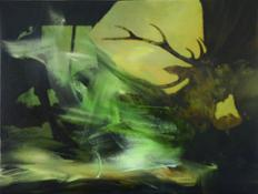 Alan Rankle_ Running from the House Study I 2012 oil and pigmented ink jet on canvas 44x58cm