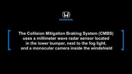 2016_Honda_Civic_Collision_Mitigation_Braking_System