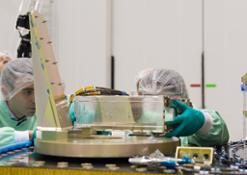 The_installation_of_the_CubeSats_P-POD_on_ASAP-S_begins