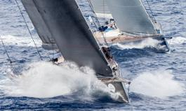 Open Season and Magic Carpet Cubed duelling at the Maxi Yacht Rolex cup 2015_photo Rolex-Borlenghi.jpg