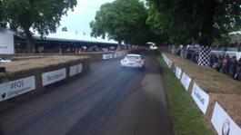 Nissan GT-R Guinness World Record Holder drifts at Festival of Speed