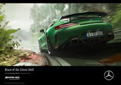 "Campaign for the world premiere of the new Mercedes-AMG GT R: Lewis Hamilton tames the beast of the ""Green Hell"""