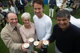 6) Lavazza ambassadors Judy Murray, Toni Nadal and Carlos Moy� with Vice