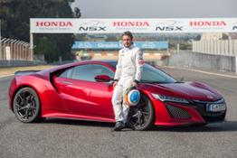 75452 McLaren Honda driver Fernando Alonso puts new Honda NSX through its paces