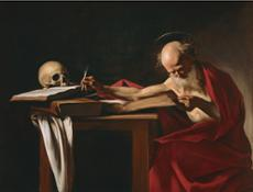 56 Caravaggio, San Girolamo senza cornice bianca