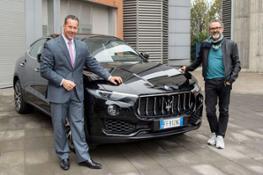 Reid-Bigland AD Maserati & Massimo Bottura Chef Osteria Francescana  consegna Levante 2016