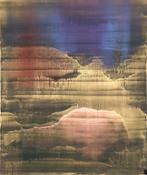 The Gate of Dawn, 2017 olio e polveri metalliche su carta abrasiva intel...