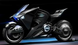 105572 Honda futuristic motorcycle based on the NM4 Vultus makes appearances in