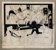 Marco Fantini, Pneuma, 2015, tecnica mista su tela, 180x200 cm