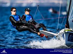 Diego Botin and Iago Lopez in the 49er