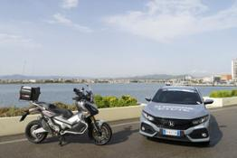 107674 Honda features as official sponsor and supplier of cars and motorcycles for