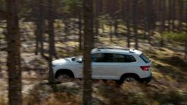 SKODA KAROQ driving trailer
