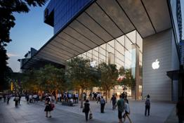 apple singapore orchard road 120 foot glass exterior