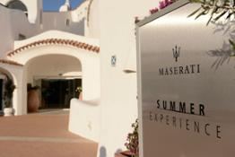 Maserati Summer Experience 2017 corner at Cala di Volpe Hotel