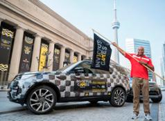 Invictus Games Competitor Ty Lincoln Welcomes The Invictus Games National Flag Tour As It Arrives Into Host City, Toronto
