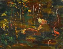 Sir Winston Churchill, The Goldfish Pool at Chartwell, oil on canvas, circa 1962 (est. £50,000-80,000) © Sotheby's