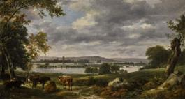 Constable - Dedham vale with the river Stour in flood from the grounds o...