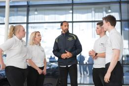 Rio Ferdinand joins the Aston Martin squad 03