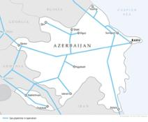 Gas trunklines in Azerbaijan