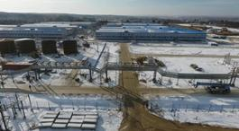 Construction site of Amur GPP