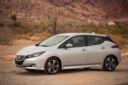 Nissan LEAF at Red Rocks Canyon, Las Vegas