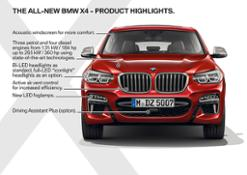 Photo Set -  The all-new BMW X4 M40d – Technical Highlights (02_2018).