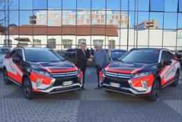Da sinistra Moreno Seveso, Direttore Generale di Mitsubishi Motors Italia e Giovanni Cuzari C.E.O. di Forward Racing Team