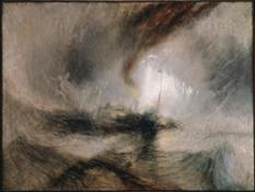 J.M.W. Turner, Snow Storm - Steam-Boat off a Harbour's Mouth exhibited 1842