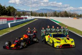 Aston Martin Red Bull Racing RB14 Aston Martin Racing WEC Vantage GTE (2)