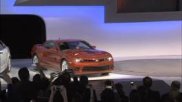 Broll of the 2014 Chevrolet Camaro reveal at the 2013 NY Auto Show