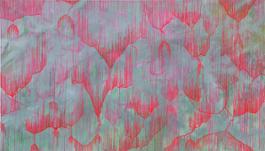 coscienza etera acrilico su tela , 200 x 350 cm, courtesy dell'artista