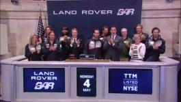 GVs Sir Ben Ainslie rings the Closing Bell at the New York Stock Exchange