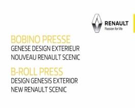 2016 - New Renault SCENIC - Exterior design press B-Roll