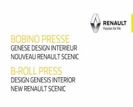 2016 - New Renault SCENIC - Interior design press B-Roll