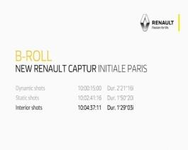 Test drive New Renault CAPTUR INITIALE PARIS B-roll