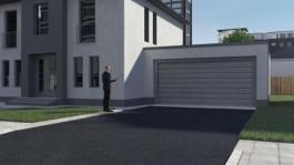 Animation Audi A8 - Audi AI parking pilot and garage pilot