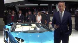 Maurizio Reggiani, Director Research and Development, introduces the New Lamborghini Aventador S Roadster (Italian)