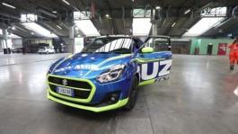 Andrea Iannone in pista con Suzuki SWIFT