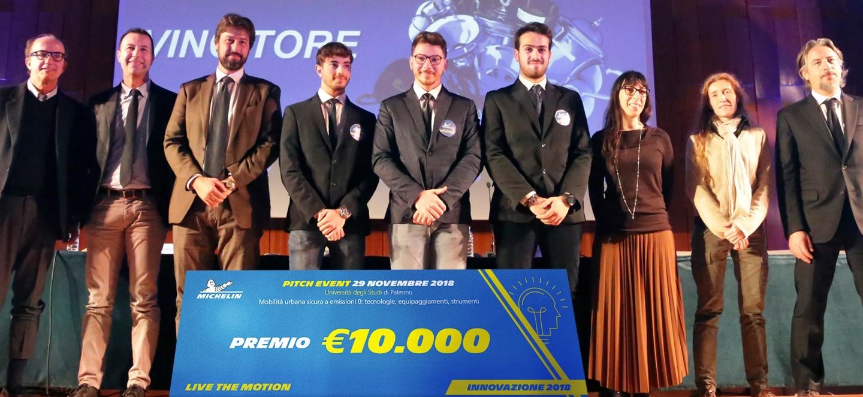 Live the Motion - Innovazione 2018 - Sfida di idee su mobilità a emissioni zero - A vincere il premio Michelin di 10.000 euro è il team dell'Università degli Studi di Palermo