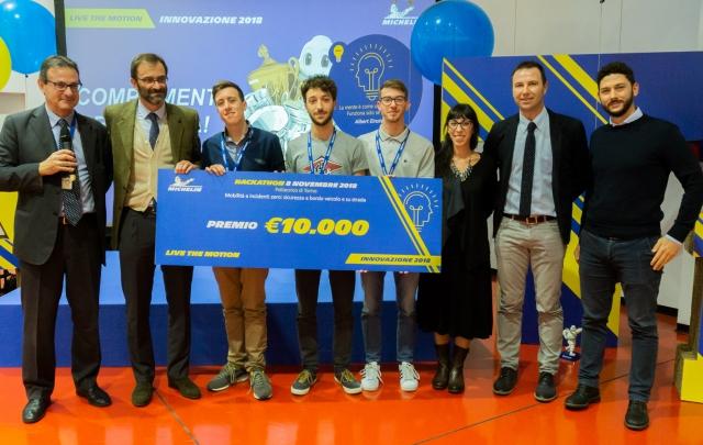 Live the Motion - Innovazione 2018 - Sfida di idee al Politecnico di Torino su sicurezza e mobilità: assegnato il premio Michelin di 10.000 euro al progetto migliore