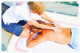 Massaggio BeN acquarello