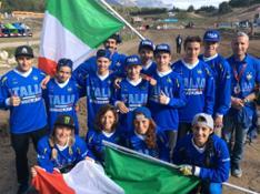 La squadra italiana al completo
