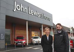 -Gaynor-Coleman-and-John-Buckham-outside-John-Lewis-in-Chichester