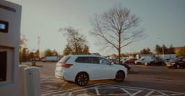 Outlander PHEV motorway service station charger Go Ultra Low