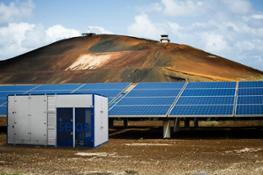 solar panel field_a low