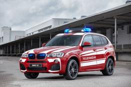 The BMW X3 xDrive20d as fire service command vehicle