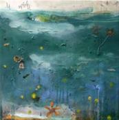 margherita martinelli, DI NOTTE, 40x40 cm, t mista su tela, 2016