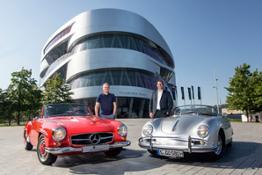 Porsche e Mercedes Benz a Stoccarda