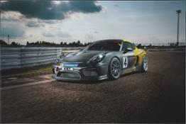 Porsche GT4 Clubsport MR- Track Shot- 3 4 Front