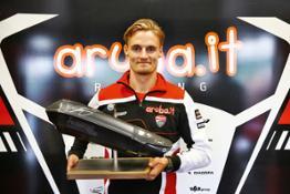 Chaz Davies with Akrapovi-ì Ducati Multistrada 1200 exhaust (2)